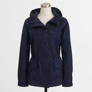 J. Crew Navy Blue Hooded Nylon Jacket